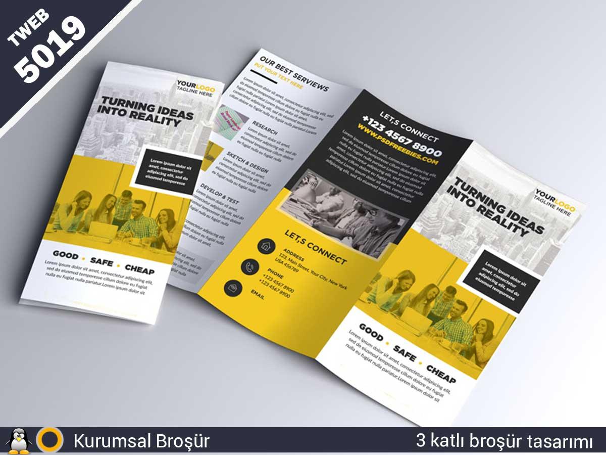 5019 Kurumsal 3 katlı broşür