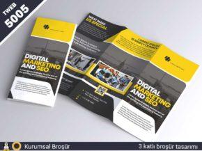 5005 Kurumsal 3 katlı broşür tasarımı