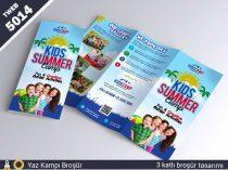 5014 Yaz kampı 3 katlı broşür tasarımıı