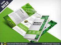 5022 Kurumsal Naturel 3 katlı broşür